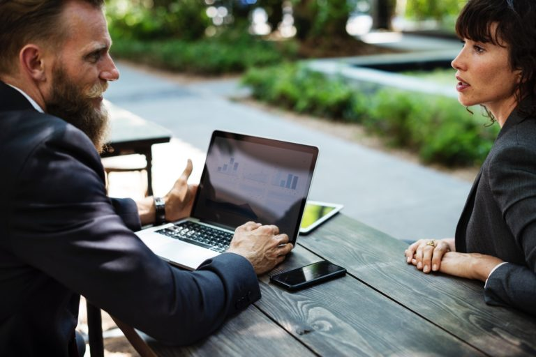 Business-meeting-outdoors